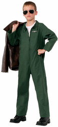 Air Force Jumpsuit Career Hero kids child boys Halloween Costume