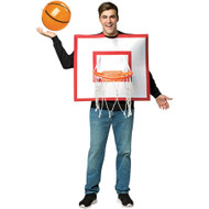 Adult Basketball Backboard Costume with Inflatable Basketball Halloween