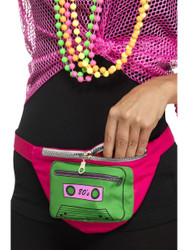 80s Fanny Pack Bumbag Rainbow Costume Accessory