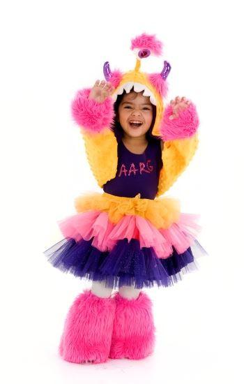 Image 1  sc 1 st  CostumeVille & purple FURRY MONSTER monstar pop star tutu girls kids halloween ...