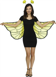 Adult Bumble Bee Wings and Headband