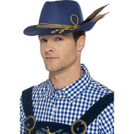 Bavarian Oktoberfest Hat Adult with Feather