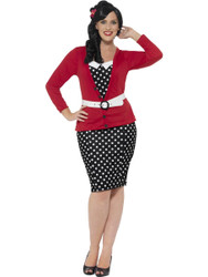 50's Pin Up Womens Costume Dress Halloween