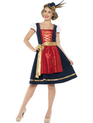 German Bavarian Dress Womens Claudia Dirndl Traditional Halloween