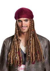 Adult Potc5 Jack Sparrow Bandana W/Dreads (no hat)