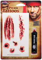 Temporary Tattoo Pirate Scar Kit