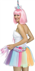 Unicorn Headband Tail Adult Halloween Costume Kit