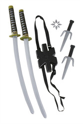 Ninja Weapon Set Sword Backpack Knife Throwing Star Set