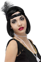 Flapper Headband Necklace Cigarette Costume Kit