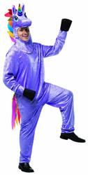 Mens Unicorn Costume Rasta Imposta Costume Funny Halloween