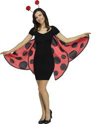 Ladybug Womens Soft Wing and Headband Costume Accessory