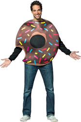 Chocolate Doughtnut with Bite Adult Costume One Size Fits Most
