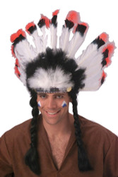Native American Headdress non Indian made Thanksgiving Halloween costume