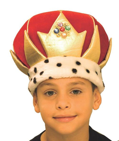 soft big king crown kids boys halloween costume