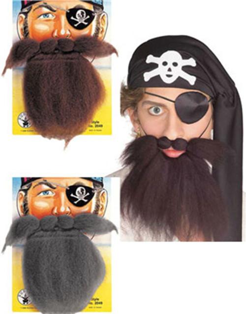 Pirate Beard \u0026 Moustache Set Adult Mens Halloween Costume Accessory Sc 1 St CostumeVille  sc 1 st  Germanpascual.Com & Moustache Halloween Costumes u0026 Pirate Beard \u0026 Moustache Set ...