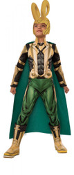 kids Loki Deluxe Muscle Chest Avengers Assemble boys Halloween costume Large