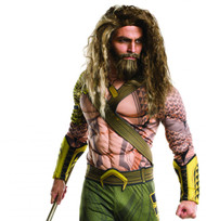adult Aquaman Beard & Wig Batman v Superman: Dawn of Justice Halloween Costume Accessory