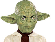 YODA 3/4 vinyl MASK star wars jedi halloween costume ADULT SIZE