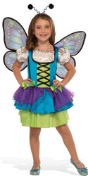 blue Glittery Butterfly kids girls Halloween costume