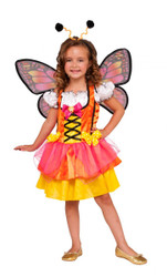 orange Glittery Butterfly kids girls Halloween costume