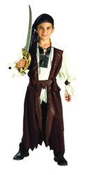 Caribbean Pirate kids boys Halloween costume