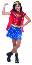 girls Wonder Woman Tutu Dress DC Comics superhero Halloween costume