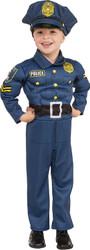 Top Cop Policeman muscled jumpsuit  kids Halloween career costume