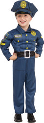 Top Cop Policeman muscled jumpsuit  kids Halloween career costume