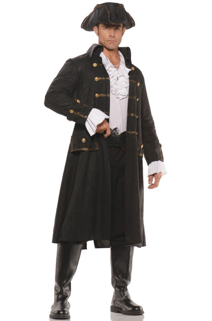 Underwraps Captain Darkwater Pirate Nautical Adult Mens Halloween ...