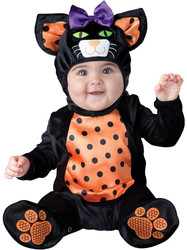Mini Meow Halloween Cat Girl Costume 6-12M