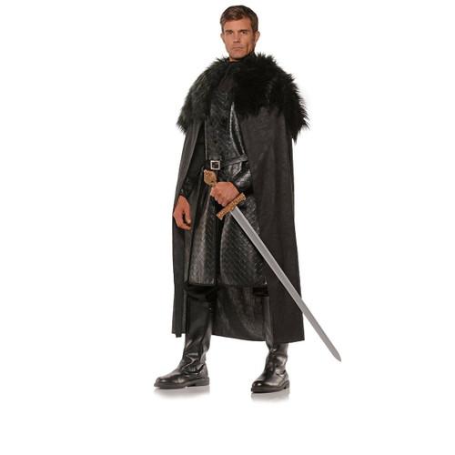 sc 1 st  CostumeVille & Black Renaissance Cape Game Of Thrones Adult Mens Halloween Costume OS