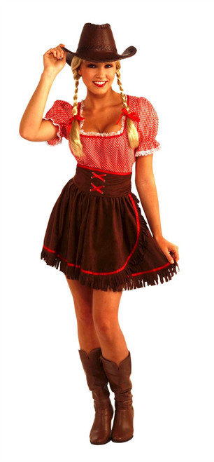 cowgirl cutie sexy wild west womens country western halloween costume one size