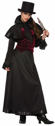 Womens -Jackie the Ripper Halloween Costume One Size