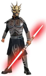 black SAVAGE OPRESS star wars clone attack boys kids halloween costume SMALL 4-6