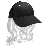 Billy Ray Mullet Hat Gray Platinum wig cap red neck mens hillbilly halloween costume