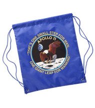 Kids Apollo 11 Blue Astronaut Drawstring Backpack