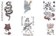 Vintage 1940s 1950s Tinsley Transfers Temporary Tattoos