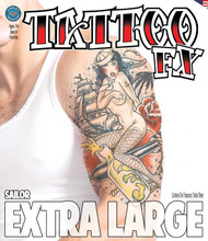 Extra Large - Sailor - Tinsley Transfers Temporary Tattoo
