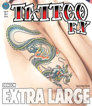 Extra Large - Dragon - Tinsley Transfers Temporary Tattoo