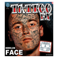 Hoodlum Face Tatttoo Tinsley Transfers Temporary Tattoo