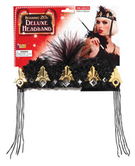 SEQUIN FLAPPER HEADPIECE 20s headband gatsby beaded halloween costume accessory