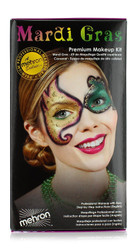 Mardi Gras Carnival Character Face Makeup Kit By Mehron