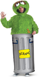 OSCAR THE GROUCH costume adult sesame street mens XL