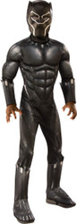 Kids Muscle Chest Black Panther Movie Costume