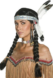 Native American Inspired Indian Maiden Wig - Black