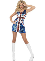 Fever All That Glitters Rule Britannia Costume Medium
