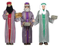 3 Wise Men Child Costume Boys Biblical Christmas Manger Nativity Wiseman