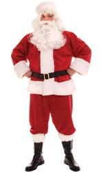SANTA SUIT red christmas holiday st nick claus mens adult holiday costume party