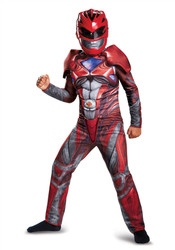 Red Ranger Movie Classic Muscle Costume 4-6