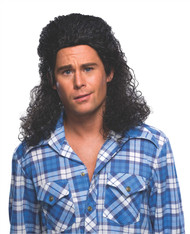 Perm Mullet Wig Adult Costume Accessory
